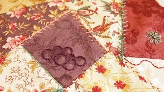 How to Sew a Crazy Quilt Square Using Your Sewing Machine