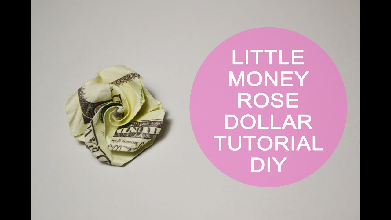 Little money rose origami dollar flower tutorial diy paper gift bill little money rose origami dollar flower tutorial diy paper gift bill mightylinksfo