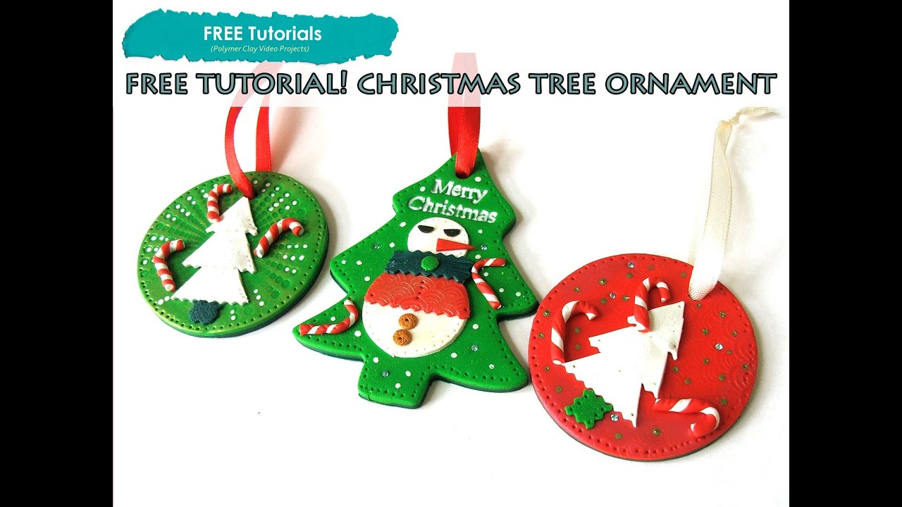 polypediaonline tv free how to polymer clay christmas snoman tree ornaments tutorial youtube - Free Christmas Decorations