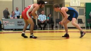 2014 ONT Championship FS57kg Oren Furmanov (Guelph) vs Alex Moher (Brock)