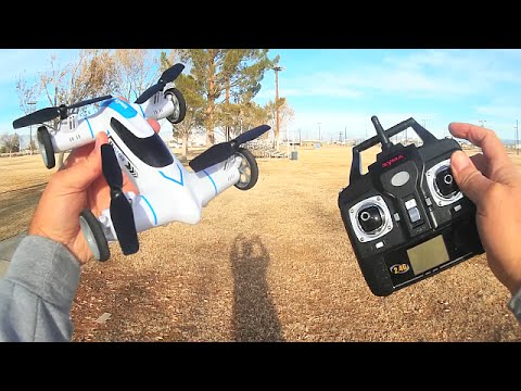 Syma X9 Flycar Drone Car Drive Flight Test Review
