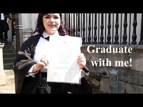 Graduating from Cambridge University