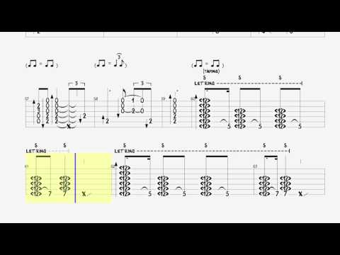 Sofa N°1 Zappa Michael Hedges with tab tablature  Tutorial slow version