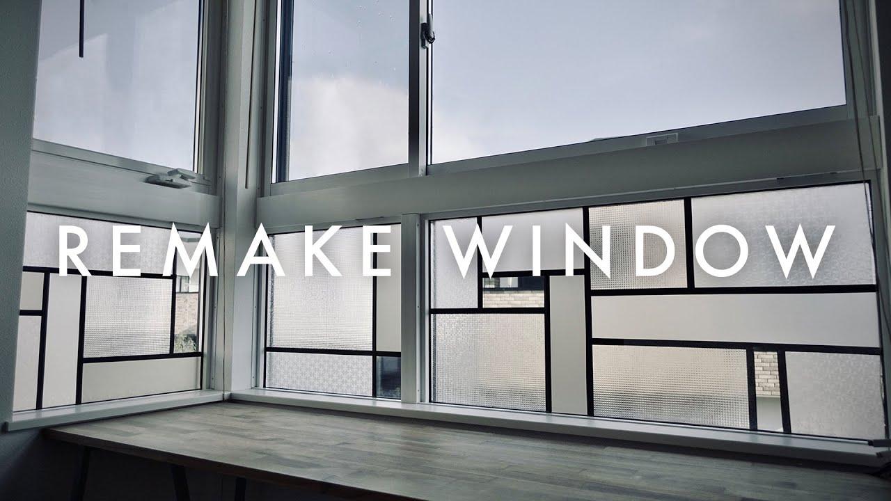 100均の材料だけで窓ガラスをステンドグラス風にリメイクしてみた[DIY]