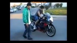 First Time Motorcycle Fail Compilation