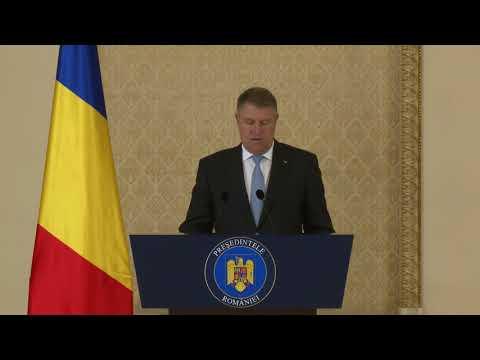 2 noiembrie 2017   Declarația de presă a Președintelui României, domnul Klaus Iohannis
