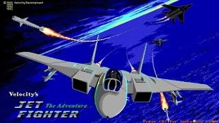 Jetfighter gameplay (PC Game, 1988)