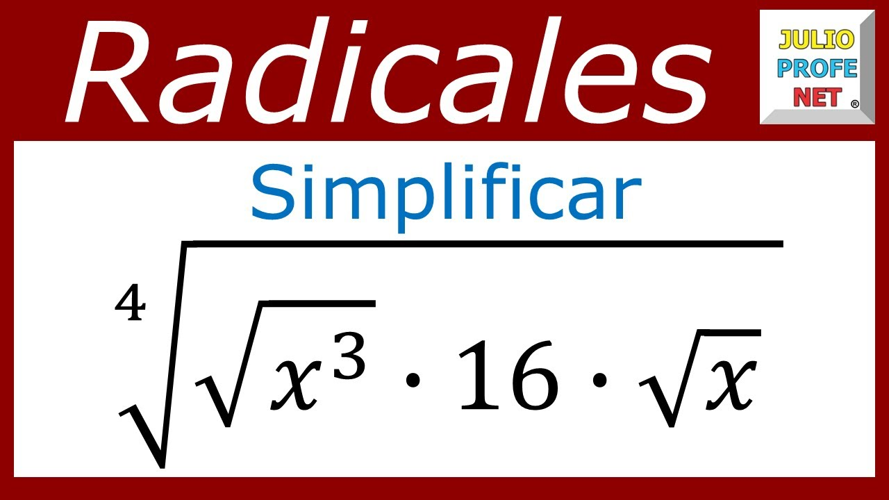 SIMPLIFICACIÓN DE EXPRESIONES CON RADICALES - Ejercicio 2