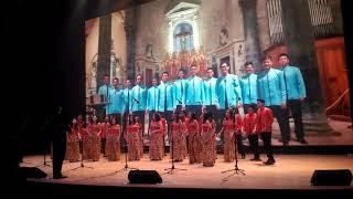 Merinding paduan suara juara internasional menyanyikan lagu indonesia pusaka