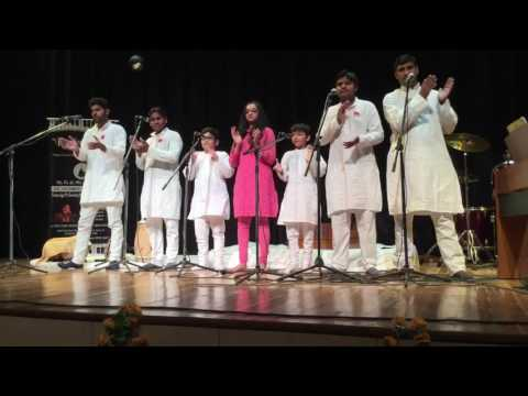 'Happiness' Song Re-Arranged by Sai Blessed Music School Team, Gurgaon in Annual Function, 2016