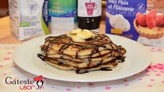 Reteta de Pancakes pufoase fara gluten cu Banane