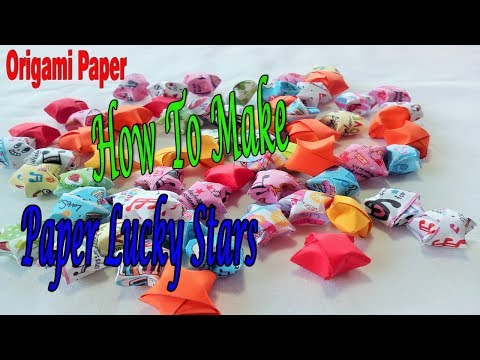 Origami Paper, How To Make Paper Stars, Lucky Star Origami Paper