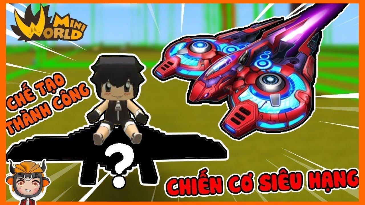 SongFish chế tạo thành công chiến cơ siêu hạng cực ngầu trong mini world
