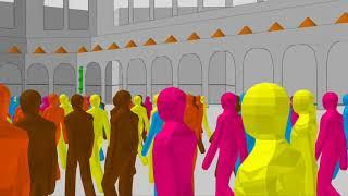 Tawaf Simulation with Social Distancing,  No Circled Lanes