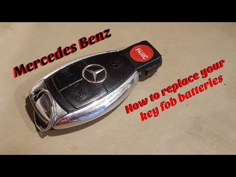 Mercedes Keyless Go SmartKey battery replacement - Change ...