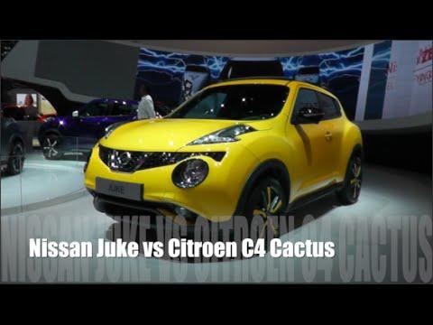 nissan juke 2015 vs citroen c4 cactus 2015 - youtube