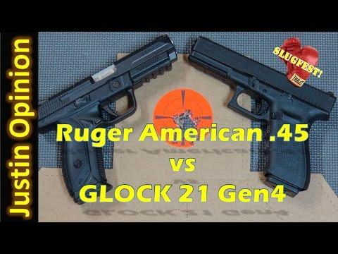 Ruger American Vs. GLOCK 21 Gen4