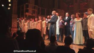 Mike Pence Booed at Hamilton Performance The cast of Hamilton  message to Mike Pence