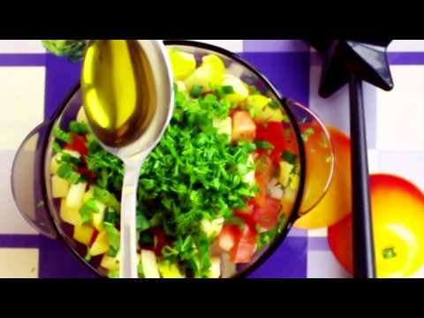 Cooking with Anastasiya vegetarian salad (my favorite)
