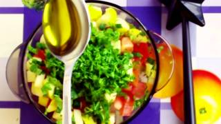 Cooking With Anastasiya Vegetarian Salad (my Favorite)