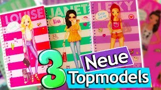 Gambar cover Neue Topmodel DRESS ME UP Bücher | Topmodel Louise, Janet und Lexy & Styling | Topmodel Stickerbuch