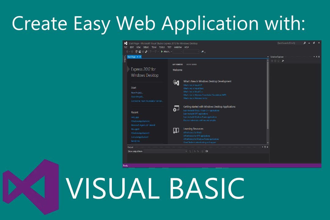 How To Make A Web Application with visual studio