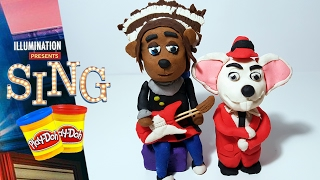 SING MOVIE Ash the Porcupine and Mike Play Doh Figures | How to Make Sing Characters tutorial