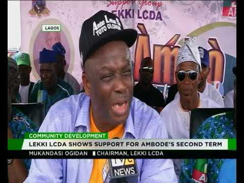 Lekki LCDA shows support for Ambode's second term/Community development