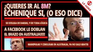 ECHENIQUE UNCHAINED , desafía a Darías y la lógica misma / AUSTRALIA le hace pagar a Facebook