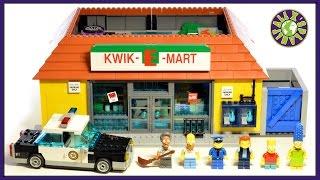 Lego Simpsons KWIK E MART Lego Simpsons Store Stop Motion Review | ALEXSPLANET