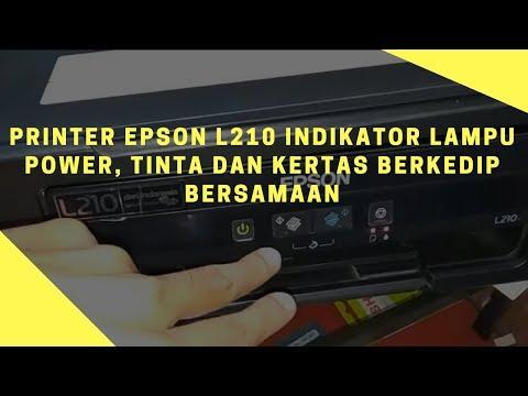 Epson L120 Lampu Berkedip Bersamaan.