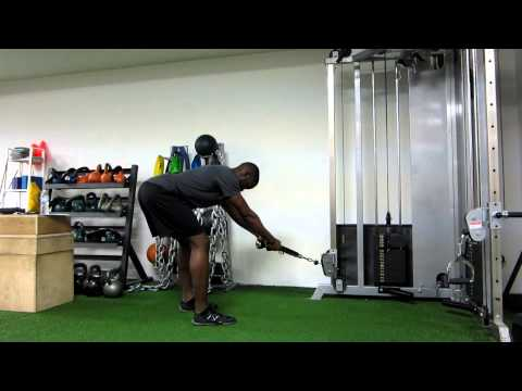 Toronto Personal Trainer - Low Cable Romanian Deadlift