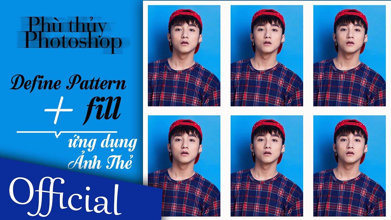 Pattern + Fill - Ứng dụng ảnh thẻ   Photoshop Online - Tập 2