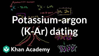 K-Ar dating calculation | Life on earth and in the universe | Cosmology & Astronomy | Khan Academy