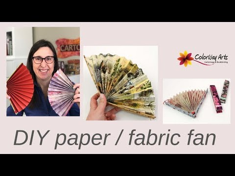DIY fan with a fabric cover