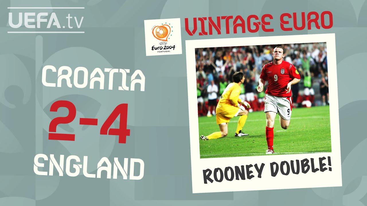 CROATIA 2-4 ENGLAND, EURO 2004   VINTAGE EURO