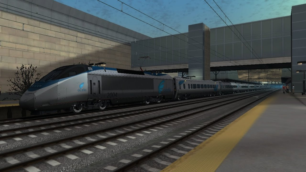 train simulator 2015 hd amtrak acela express train 2103 cab ride new york philadelphia 10 car. Black Bedroom Furniture Sets. Home Design Ideas
