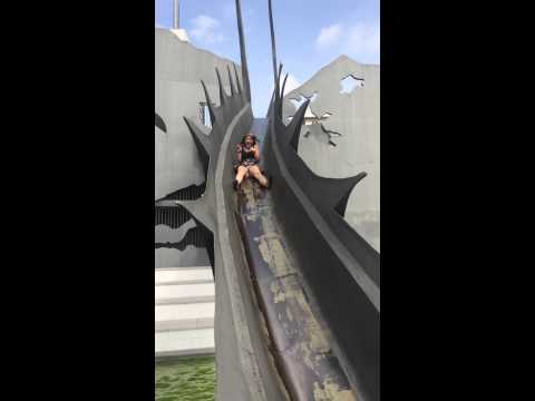 Can see your knickers!Slide barcelona park october 2014