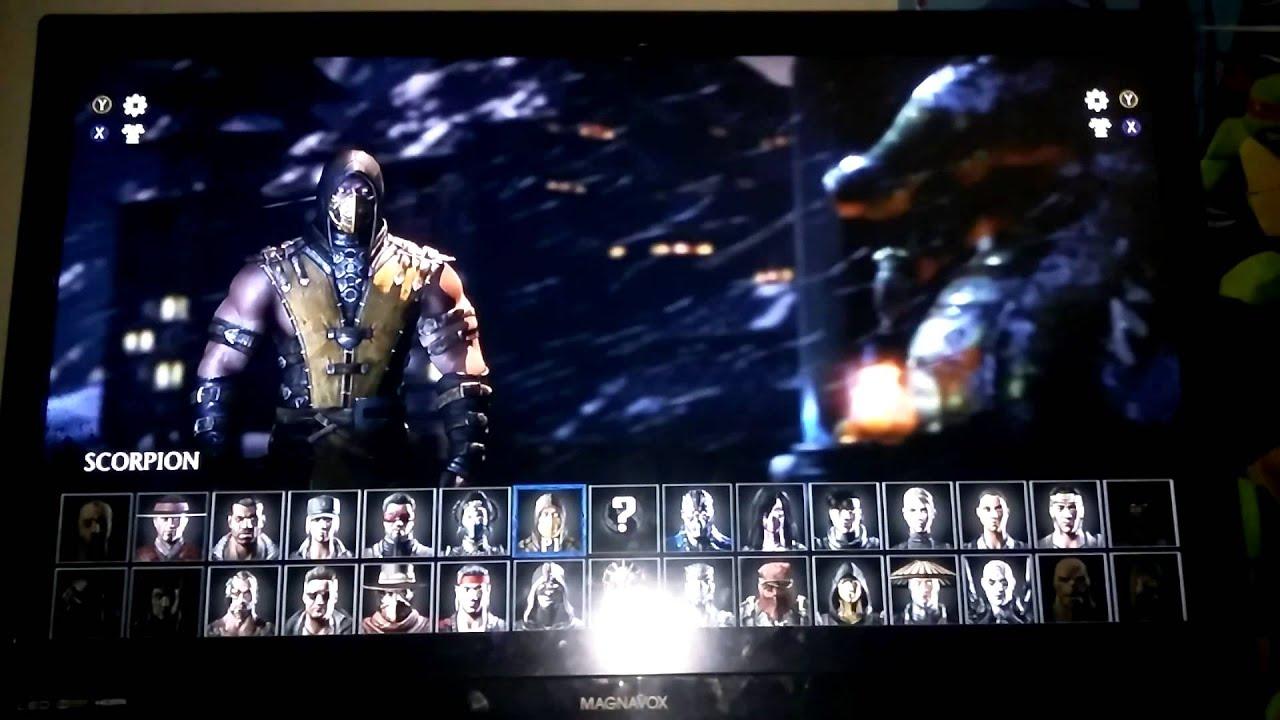 Scorpions and subzero x-ray Mortal kombat x