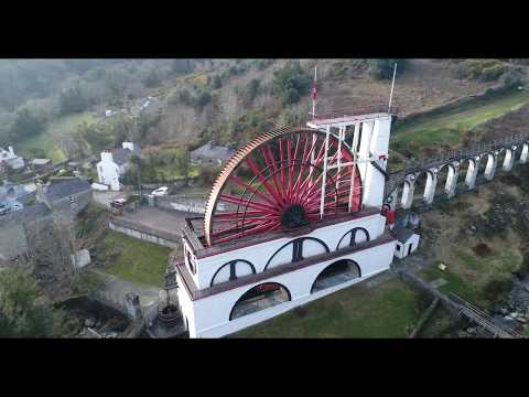 Laxey Wheel - Isle of Man by Drone