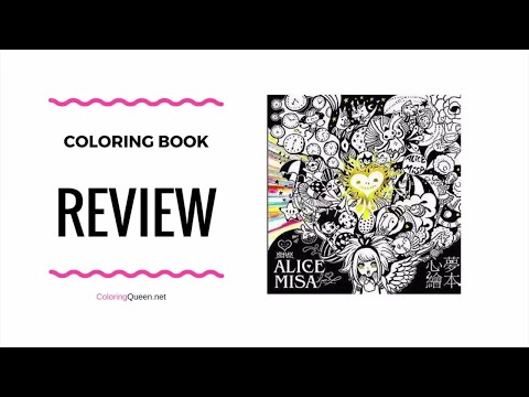 Alices Adventures in Wonderland Alice Misa - Taiwan Coloring Book Review