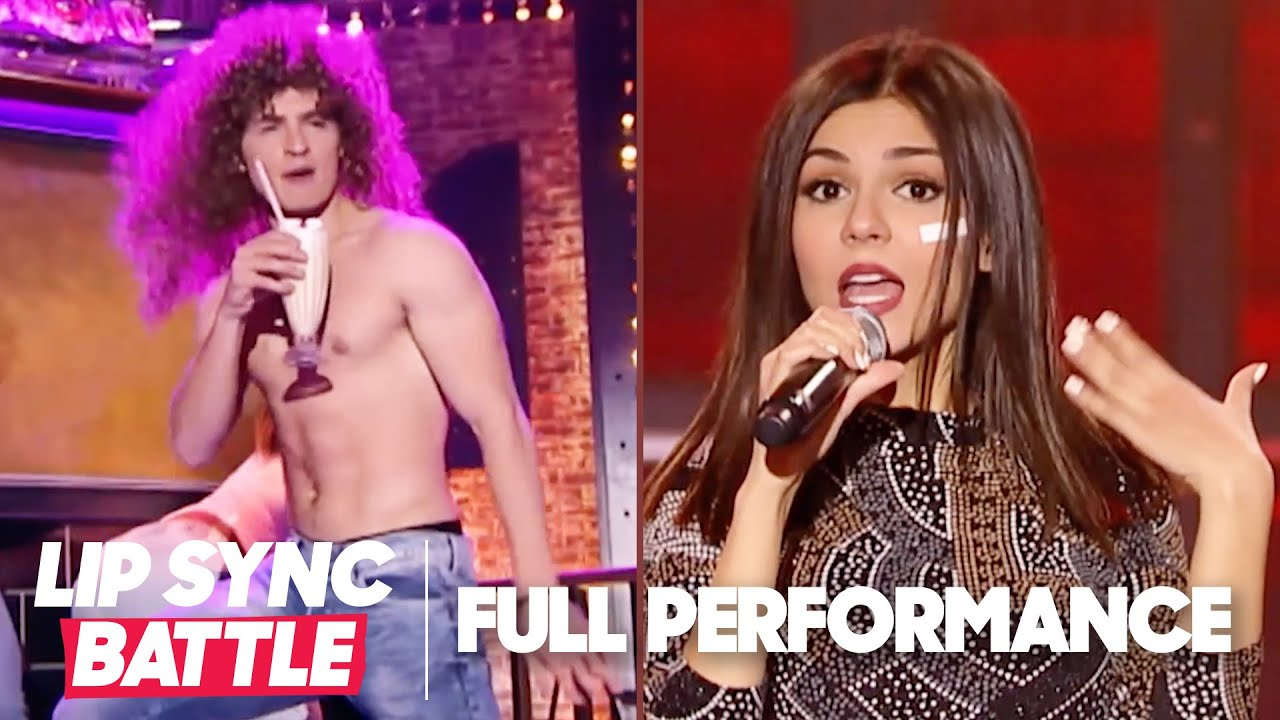 "Gregg Sulkin's ""Milkshake"" vs. Victoria Justice's ""Hot in Herre"" 