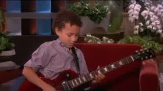 Repeat youtube video Child Guitar Prodigy! on Ellen Show