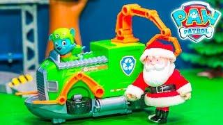 PAW PATROL Nickelodeon Rocky Tug Boat with PJ Masks + Santa Clause Toys Video