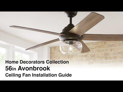 Avonbrook Ceiling Fan Installation Guide