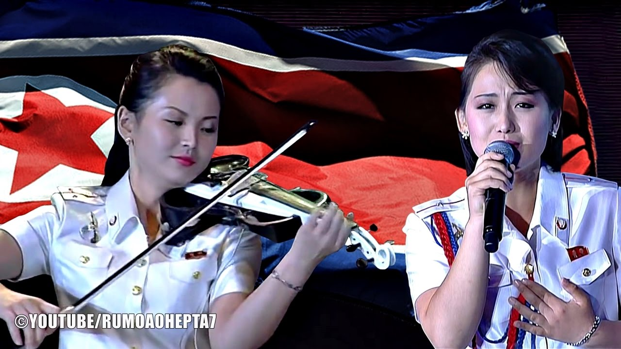North Korean Moranbong Band: North Korean National Anthem - Aegukka - Hino da Coréia do Norte