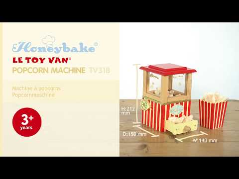 Popcorn Machine | Honeybake© Collection | Le Toy Van | Traditional Wooden Toys