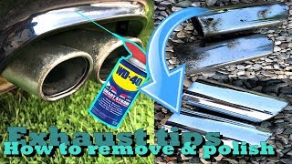 How To Remove And Clean Chrome Exhaust Tips In 5 Minutes [4K]
