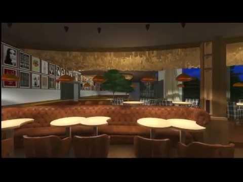 3D interior design-Hugo Restaurant and Club Presentation