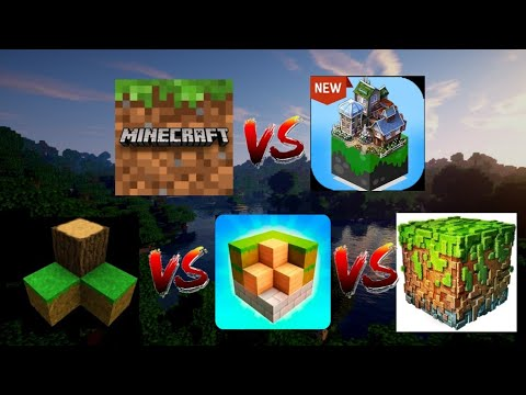 Minecraft PE Vs Mastercraft Vs Survival Craft Vs Block Craft 3D Vs RealmCraft